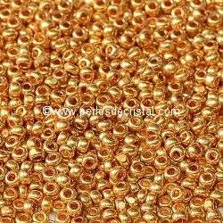 10GR Seed beads CHARLOTTE 11/0 - 2mm COLOURS GOLD METALLIC 18389