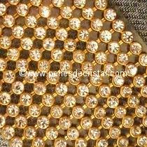 20 STRASS IMITATION MESH CRYSTAL - BASE GOLD