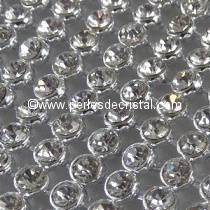 20 STRASS IMITATION MESH CRYSTAL - BASE SILVER