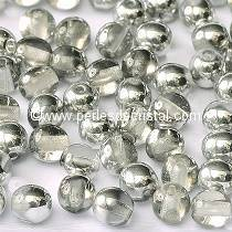 50 SMOOTH ROUND BEADS 4MM CRYSTAL ARGENT LIGHT - CAL 00030/27001 - SILVER