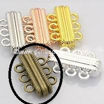 Beautiful magnetic clasp to 3 rows colors BRONZE - 27X17X7
