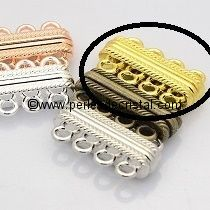 Beautiful magnetic clasp to 4 rows colors GOLD 30X17X7