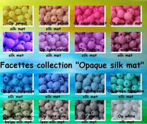 OPAQUE SILK MAT COLOURS 4MM