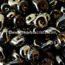 10GR SUPERDUO 2.5X5MM EN VERRE COLORIS CRYSTAL CALIFORNIA NIGHT 00030/98543