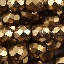 1200 BOHEMIAN GLASS FIRE POLISHED FACETED ROUND BEADS 3MM COLOURS GOLD BRONZE 23980/90215