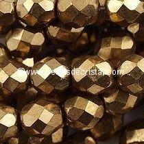 1200 FACETTES 3MM CRISTAL VERRE DE BOHEME COLORIS GOLD BRONZE 23980/90215