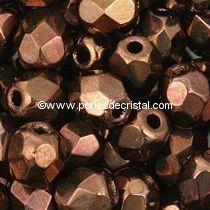 1200 FACETTES 3MM CRISTAL VERRE DE BOHEME COLORIS DARK BRONZE 23980/14415