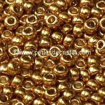 10gr SEED BEADS MIYUKI 11/0 - 2MM COLOURS DURACOAT GALVANIZED GOLD - 4202