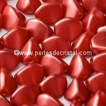 50 PINCH 5X3MM EN VERRE COLORIS PASTEL DARK CORAL 02010/25010