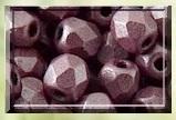 50 FACETTES 4MM CRISTAL VERRE DE BOHEME COLORIS METALLIC MAT PINK 23980/79086 - ROSE