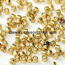 8gr PERLES ROCAILLES MIYUKI DELICA 11/0 - 2MM DURACOAT GALVANIZED GOLD - DB1832 - DORE / OR