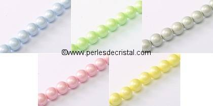 DISCOVERY OFFER : 5 PEARL COLOURS ROUNDS 4MM (500 BEADS)