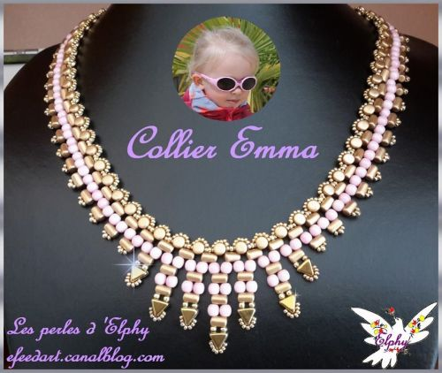 "The schema of this beautiful necklace ""EMMA"" is offered by ""Elphy""<br />"