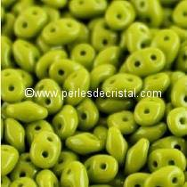 10GR SUPERDUO 2.5X5MM EN VERRE COLORIS OPAQUE DARK OLIVINE 53420