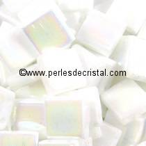 5GR TILAS MIYUKI 5X5MM GLASS BEADS COLOURS WHITE PEARL AB TL-0471