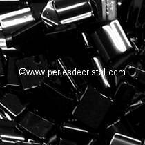 5GR TILAS MIYUKI 5X5MM GLASS BEADS COLOURS JET TL-0401 / BLACK