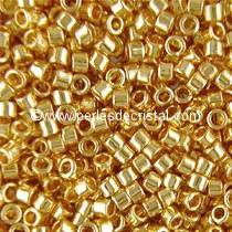 5gr PERLES ROCAILLES MIYUKI DELICA 11/0 - 2MM GOLD PLATED 24 CARATS DB0031 - DORE - OR