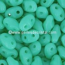 10GR MINIDUO® 2X4MM GLASS COLOURS OPAQUE GREEN TURQUOISE 63130