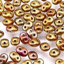 10GR MINIDUO® 2X4MM GLASS COLOURS CRYSTAL GOLD RAINBOW 00030/01610