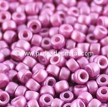10GR MATUBO Czech Glass Seed Beads 8/0 (3mm)- COLOURS PASTEL LILA 02010/25012 - PURPLE/PINK