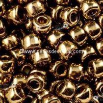 10GR ROCAILLE MATUBO 8/0 - 3MM  COULEUR LIGHT GOLD BRONZE 24 CARATS
