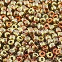 10GR MATUBO Czech Glass Seed Beads 8/0 (3mm) COLOURS CALIFORNIA GOLDEN RUSH 00030/98542