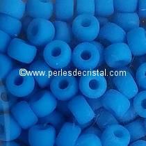 10GR MATUBO Czech Glass Seed Beads 8/0 (3mm) AQUAMARINE NEON MAT 02010/25127