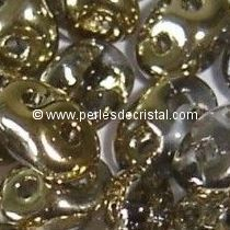 10GR SUPERDUO 2.5X5MM EN VERRE COLORIS CRYSTAL DORADO 00030/26441