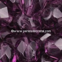 120 BOHEMIAN GLASS FIRE POLISHED FACETED ROUND BEADS 10MM COLOURS AMETHYST 20060