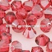 50 TOUPIES 4MM CRISTAL SWAROVSKI COLORIS PADPARADSCHA SATIN #5301