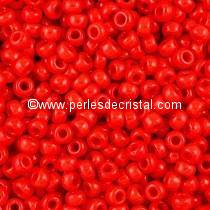 10gr PERLES ROCAILLES MIYUKI 11/0 - 2MM COLORIS OPAQUE RED - 407 ROUGE