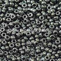 10gr SEED BEADS MIYUKI 11/0 - 2MM COLOURS JET HEMATITE 55029 BLACK SILVER
