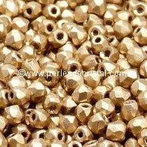 1200 FACETTES 4MM CRISTAL VERRE DE BOHEME COLORIS LIGHT GOLD MAT 01710