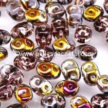 100GR SUPERDUO 2.5X5MM GLASS COLOURS AMETHYST SLIPERIT 20060/29500