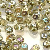 100GR SUPERDUO 2.5X5MM EN VERRE COLORIS BLACK DIAMOND VITRAIL 40020/28101