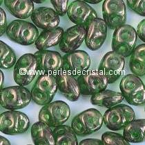 100GR SUPERDUO 2.5X5MM EN VERRE COLORIS GREEN VEGA 50050/15726