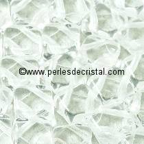 50 SILKY BEADS 6X6MM DIAMOND COLORIS CRYSTAL 00030