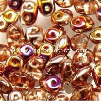 10GR SUPERDUO 2.5X5MM EN VERRE COLORIS CRYSTAL SLIPERIT 00030/29500