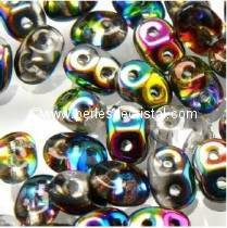 10GR SUPERDUO 2.5X5MM GLASS COLOURS CRYSTAL VITRAIL 00030/28101