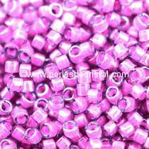 5gr SEED BEADS MIYUKI DELICA 11/0 - 2MM COLOURS LUMINOUS HOT PINK DB2049
