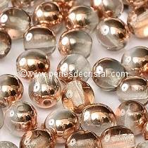 50 SMOOTH ROUND BEADS 4MM CRYSTAL CAPRI GOLD 00030/27101