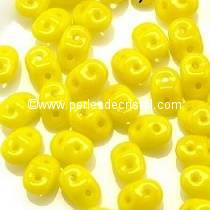 10GR MINIDUO® 2X4MM GLASS COLOURS OPAQUE JONQUIL 83120 - YELLOW