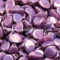 50 PINCH 5X3MM GLASS COLOURS OPAQUE AMETHYST GOLD CERAMIC LOOK 03000/15726