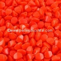 50GR PINCH 5X3MM EN VERRE COLORIS OPAQUE GREY CERAMIC LOOK 03000/14449 - ENVIRON 640 PERLES