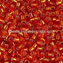 5gr SEED BEADS MIYUKI DELICA 11/0 - 2MM COLOURS RED SILVER LINED DB0043