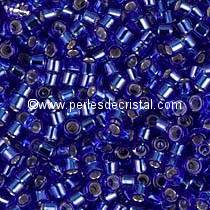 5gr SEED BEADS MIYUKI DELICA 11/0 - 2MM COLOURS COBALT SILVER LINED DB0047 - BLUE