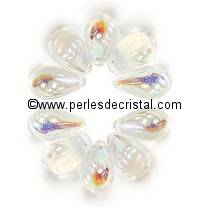 25 DROPS BOHEMIAN 6X9MM GLASS COLOURS CRYSTAL AB 00030/28701