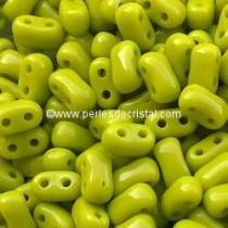 10GR BIBO BEADS 5.5 X 2.8MM GLASS COLOURS OPAQUE OLIVINE