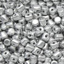 5GR BEADS MINOS® BY PUCA® 2.5X3MM COLOURS CRYSTAL LABRADOR FULL 00030/27000 - SILVER