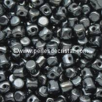 5GR BEADS MINOS® BY PUCA® 2.5X3MM COLOURS JET HEMATITE 23980/14400